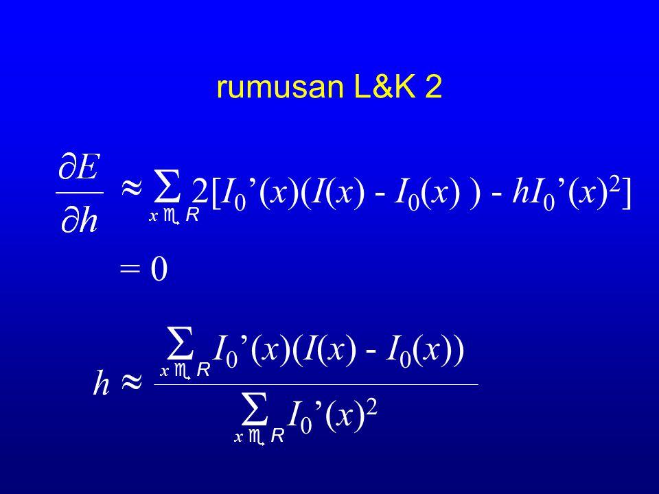 S I0'(x)2 S 2[I0'(x)(I(x) - I0(x) ) - hI0'(x)2] = 0